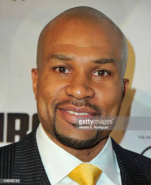 NBA player Derek Fisher arrives to the National Basketball Players Association AllStar Gala on February 19 2011 in Los Angeles California