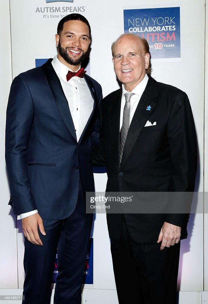 NBA player <a gi-track='captionPersonalityLinkClicked' href=/galleries/search?phrase=Deron+Williams&family=editorial&specificpeople=203215 ng-click='$event.stopPropagation()'>Deron Williams</a> and co-founder of Autism Speaks <a gi-track='captionPersonalityLinkClicked' href=/galleries/search?phrase=Bob+Wright&family=editorial&specificpeople=215445 ng-click='$event.stopPropagation()'>Bob Wright</a> attend the Winter Ball for Autism at Metropolitan Museum of Art on December 2, 2013 in New York City.