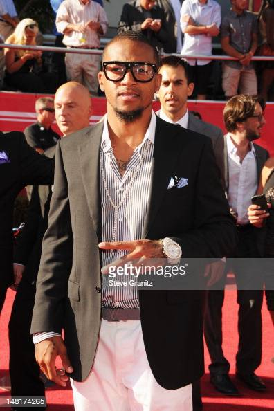 NFL player DeSean Jackson of the Philadelphia Eagles arrives at the 2012 ESPY Awards at Nokia Theatre LA Live on July 11 2012 in Los Angeles...