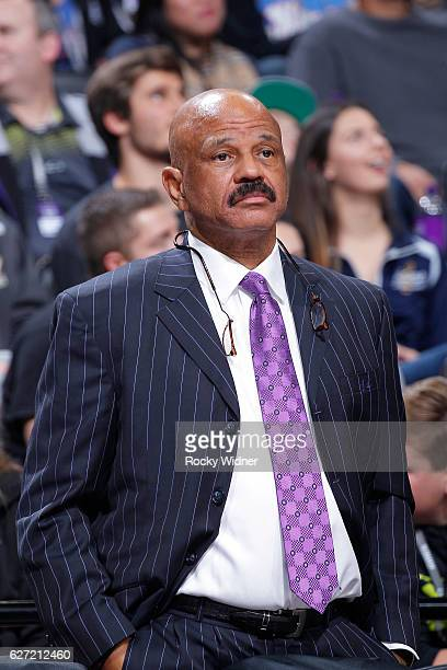 Player development coach John Lucas II of the Houston Rockets coaches against the Sacramento Kings on November 25 2016 at Golden 1 Center in...