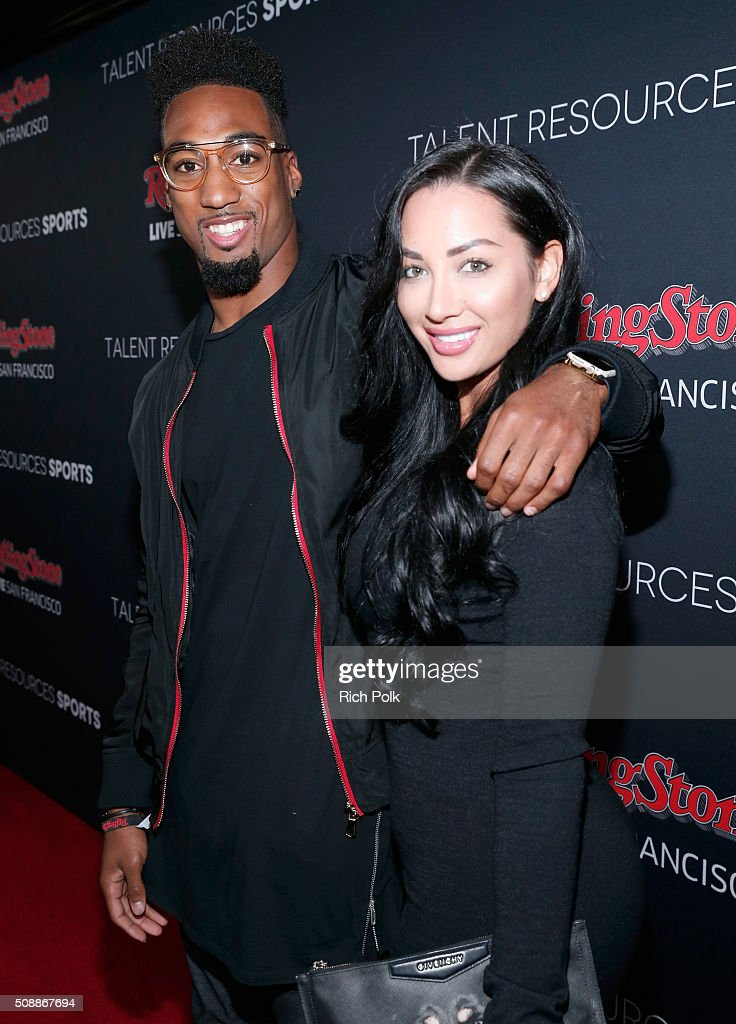 NFL player <a gi-track='captionPersonalityLinkClicked' href=/galleries/search?phrase=Dontae+Johnson&family=editorial&specificpeople=7199526 ng-click='$event.stopPropagation()'>Dontae Johnson</a> (L) and guest attend Rolling Stone Live SF with Talent Resources on February 6, 2016 in San Francisco, California.