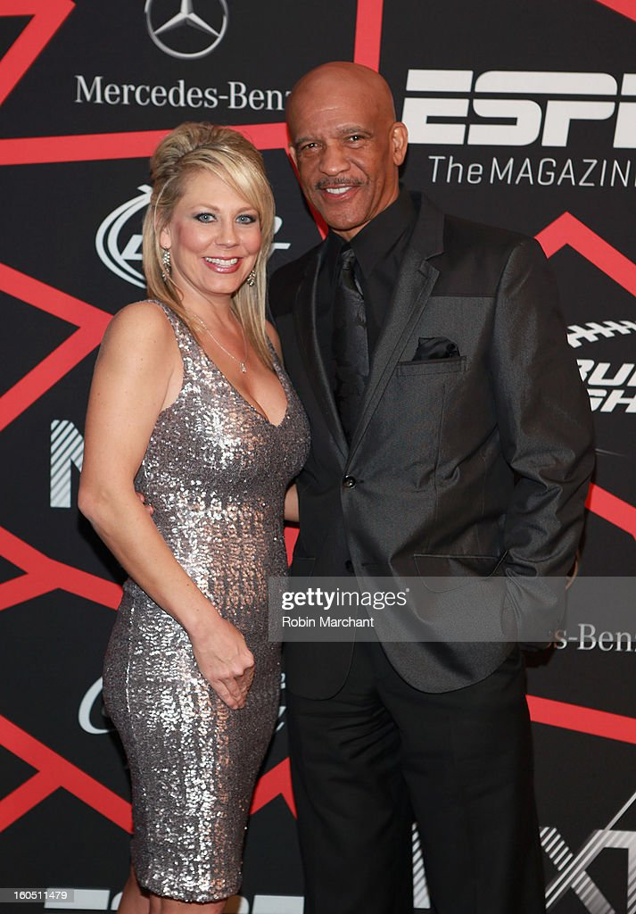 Player <a gi-track='captionPersonalityLinkClicked' href=/galleries/search?phrase=Drew+Pearson&family=editorial&specificpeople=226652 ng-click='$event.stopPropagation()'>Drew Pearson</a> (R) attends ESPN The Magazine's 'NEXT' Event at Tad Gormley Stadium on February 1, 2013 in New Orleans, Louisiana.