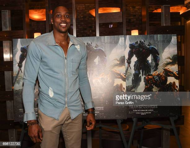 Player Dwight Howard attends TRANSFORMERS THE LAST KNIGHT special screening hosted by Dwight Howard at Cinebistro on June 19 2017 in Atlanta Georgia