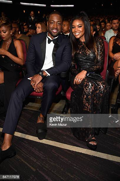 NBA player Dwyane Wade and actress Gabrielle Union attend the 2016 ESPYS at Microsoft Theater on July 13 2016 in Los Angeles California