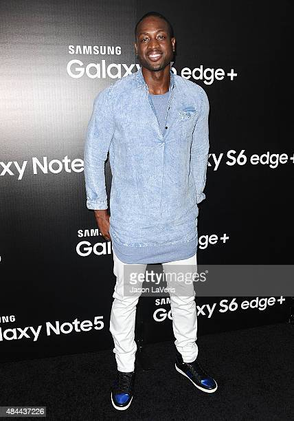 NBA player Dwyane Wade attends the Samsung launch party on August 18 2015 in West Hollywood California