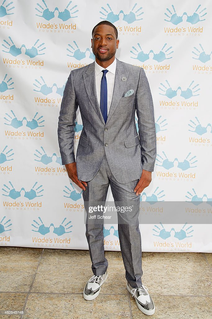 NBA player <a gi-track='captionPersonalityLinkClicked' href=/galleries/search?phrase=Dwyane+Wade&family=editorial&specificpeople=201481 ng-click='$event.stopPropagation()'>Dwyane Wade</a> attends the Wade's World Foundation Dinner Hosted By <a gi-track='captionPersonalityLinkClicked' href=/galleries/search?phrase=Dwyane+Wade&family=editorial&specificpeople=201481 ng-click='$event.stopPropagation()'>Dwyane Wade</a> at Chicago Cut Steakhouse on July 22, 2014 in Chicago, Illinois.