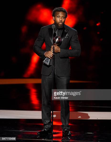 NFL player Eric Berry accepts the award for Best Comeback Athlete onstage during the 2016 ESPYS at Microsoft Theater on July 13 2016 in Los Angeles...