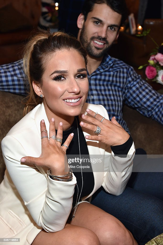 Player Eric Decker and Wife and Country Singer Jessie James Decker attend PANDORA Jewelry Valentine's Day Collection launch event at Soho Grand Hotel...