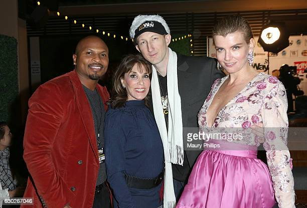 NFL Player Eric King actress Kate Linder Eric Zuley and actress Eugenia Kuzmina arrive at eZWayCares Community Santa Toy Drive on December 18 2016 in...
