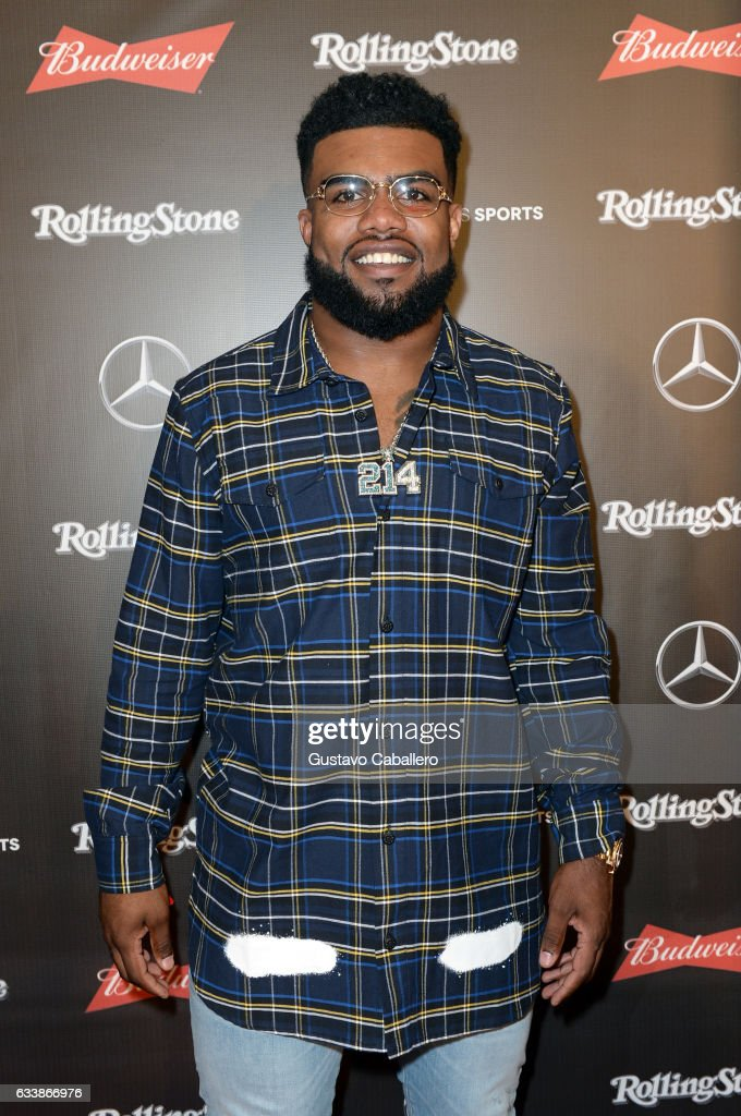 NFL player Ezekiel Elliott at the Rolling Stone Live: Houston presented by Budweiser and Mercedes-Benz on February 4, 2017 in Houston, Texas. Produced in partnership with Talent Resources Sports.