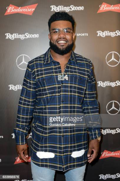 NFL player Ezekiel Elliott at the Rolling Stone Live Houston presented by Budweiser and MercedesBenz on February 4 2017 in Houston Texas Produced in...