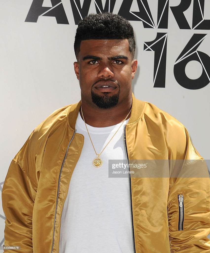 NFL player Ezekiel Elliott attends the 2016 BET Awards at Microsoft Theater on June 26, 2016 in Los Angeles, California.