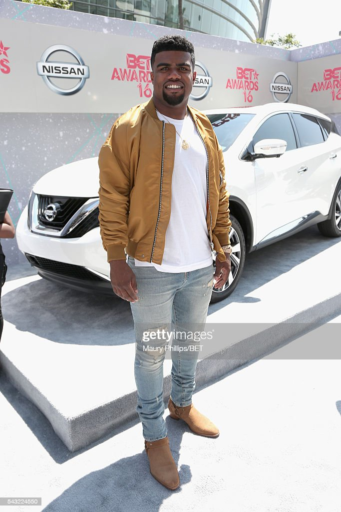 NFL player Ezekiel Elliott attends the Nissan red carpet during the 2016 BET Awards at the Microsoft Theater on June 26, 2016 in Los Angeles, California.