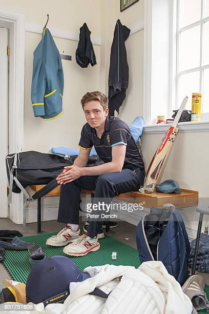 A player for the Wellington College senior cricket team prepare for a match in the pavillion Wellington College is a British coeducational boarding...