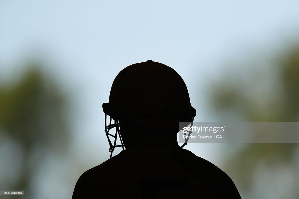 A player from Western Australia waits to bat during day 2 the National Indigenous Cricket Championships on February 9, 2016 in Alice Springs, Australia.