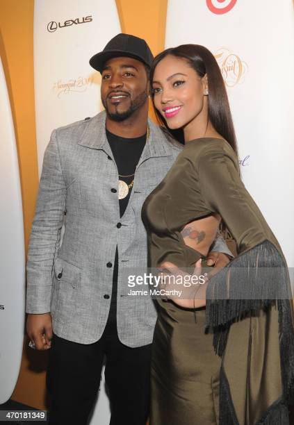 NFL player Hakeem Nicks and model Ariel Meredith attend the Sports Illustrated Swimsuit 50 Years of Swim in NYC Celebration at the Sports Illustrated...