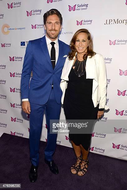 NHL player Henrik Lundqvist and fashion designer Donna Karan attend the 6th Annual Solving Kids Cancer Spring Celebration at 583 Park Avenue on June...