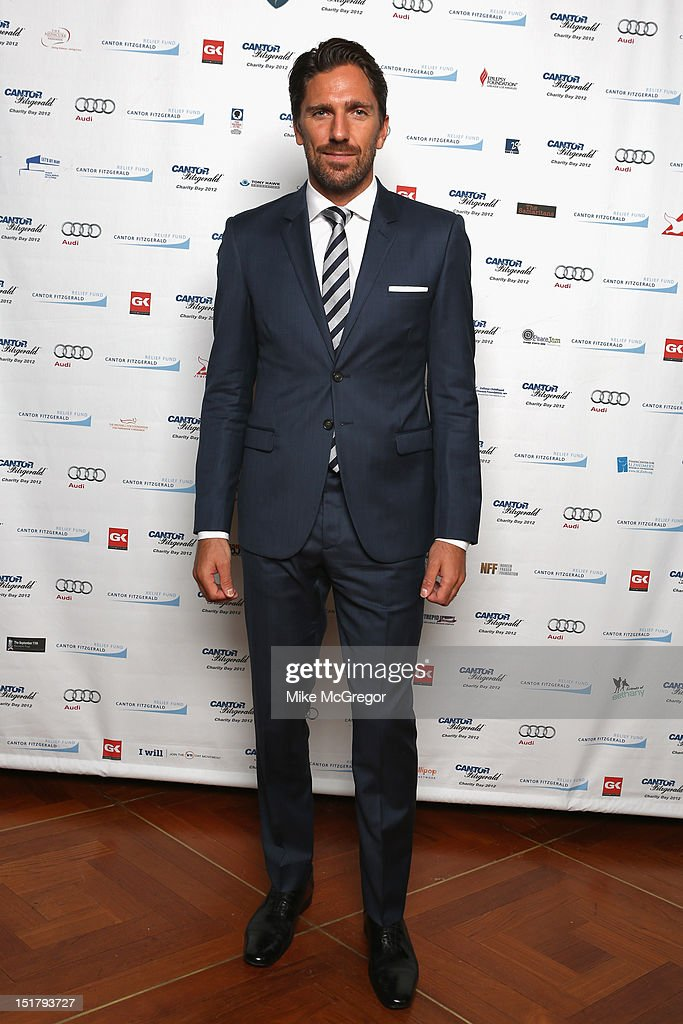 NHL player Henrik Lundqvist attends Cantor Fitzgerald & BGC Partners host annual charity day on 9/11 to benefit over 100 charities worldwide at Cantor Fitzgerald on September 11, 2012 in New York City.