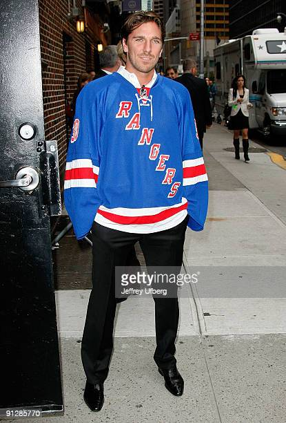 NHL player Henrik Lundqvist visits the ''Late Show with David Letterman'' at the Ed Sullivan Theater on September 30 2009 in New York City
