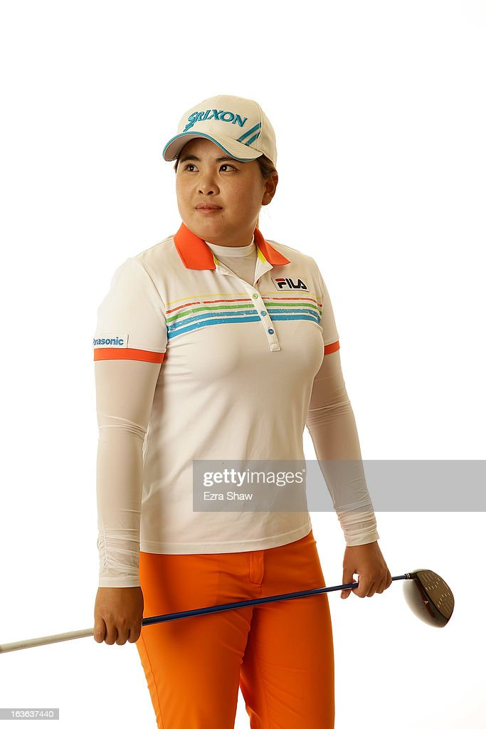 LPGA player Inbee Park of South Korea poses for a portrait prior to the start of the RR Donnelley Founders Cup at the JW Marriott Desert Ridge Resort on March 13, 2013 in Phoenix, Arizona.