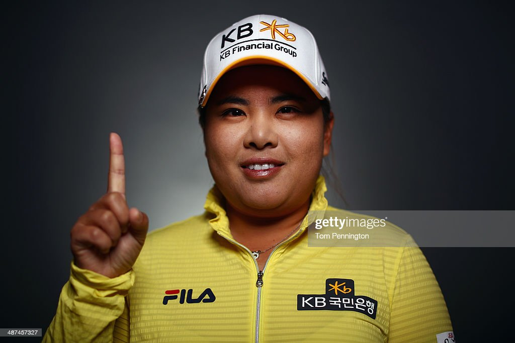 LPGA player <a gi-track='captionPersonalityLinkClicked' href=/galleries/search?phrase=Inbee+Park&family=editorial&specificpeople=4532692 ng-click='$event.stopPropagation()'>Inbee Park</a> of South Korea poses for a portrait prior to the start of the North Texas LPGA Shootout Presented by JTBC at the Las Colinas Country Club on April 29, 2014 in Irving, Texas.