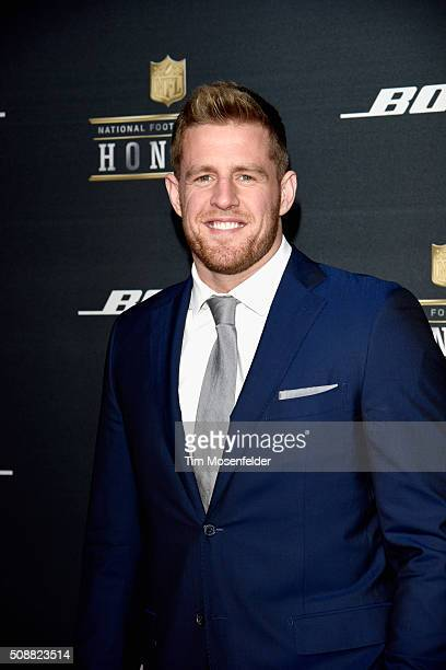 NFL player J J Watt attends the 5th Annual NFL Honors at Bill Graham Civic Auditorium on February 6 2016 in San Francisco California