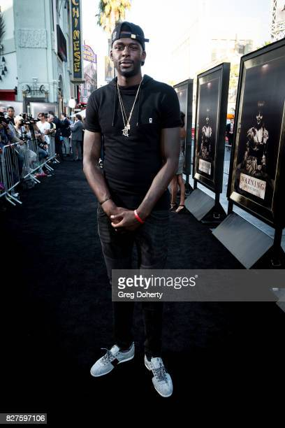 Player James Ennis arrives for the Premiere Of New Line Cinema's 'Annabelle Creation' at the TCL Chinese Theatre on August 7 2017 in Hollywood...