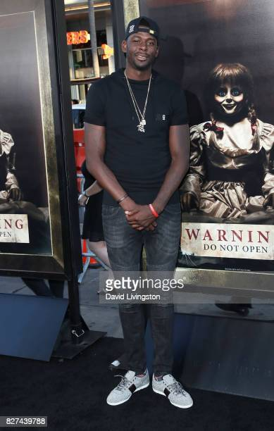 NBA player James Ennis attends the premiere of New Line Cinema's 'Annabelle Creation' at TCL Chinese Theatre on August 7 2017 in Hollywood California