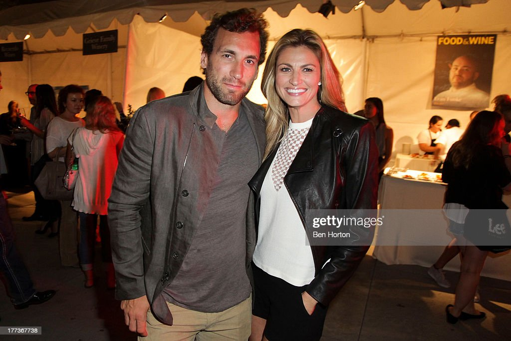 NHL player Jarret Stoll and sportscaster Erin Andrews attend the Festa Italiana with Giada de Laurentiis opening night celebration of the third annual Los Angeles Food & Wine Festival on August 22, 2013 in Los Angeles, California.