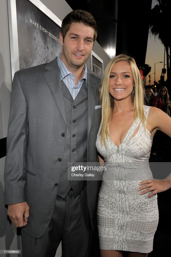 NFL player Jay Cutler and Kristin Cavallari arrive at the premiere of Summit Entertainment's 'Source Code' at ArcLight Cinemas on March 28 2011 in...