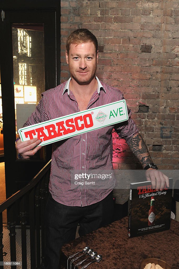 NFL player <a gi-track='captionPersonalityLinkClicked' href=/galleries/search?phrase=Jeremy+Shockey&family=editorial&specificpeople=209138 ng-click='$event.stopPropagation()'>Jeremy Shockey</a> attends Tabasco Original Red Sauce at the Playboy Party presented by Crown Royal on February 1, 2013 in New Orleans, Louisiana.