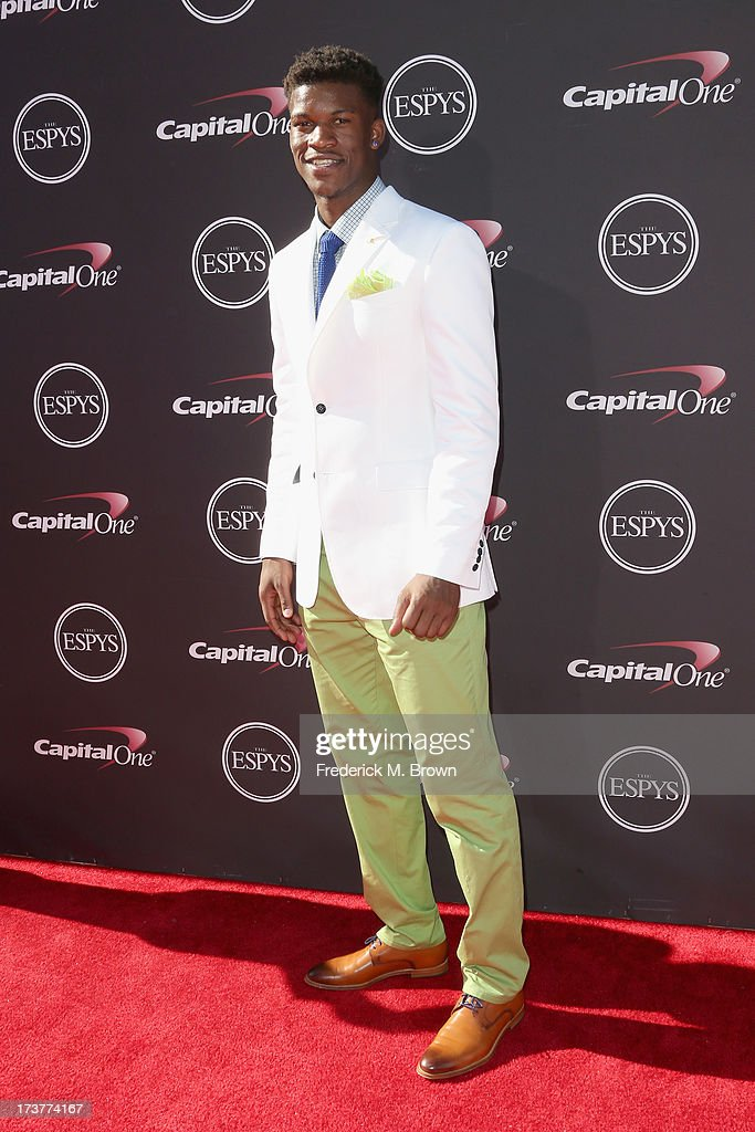 NBA player Jimmy Butler attends The 2013 ESPY Awards at Nokia Theatre L.A. Live on July 17, 2013 in Los Angeles, California.