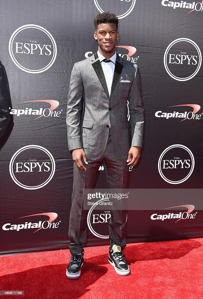 NBA player Jimmy Butler attends The 2015 ESPYS at Microsoft Theater on July 15, 2015 in Los Angeles, California.