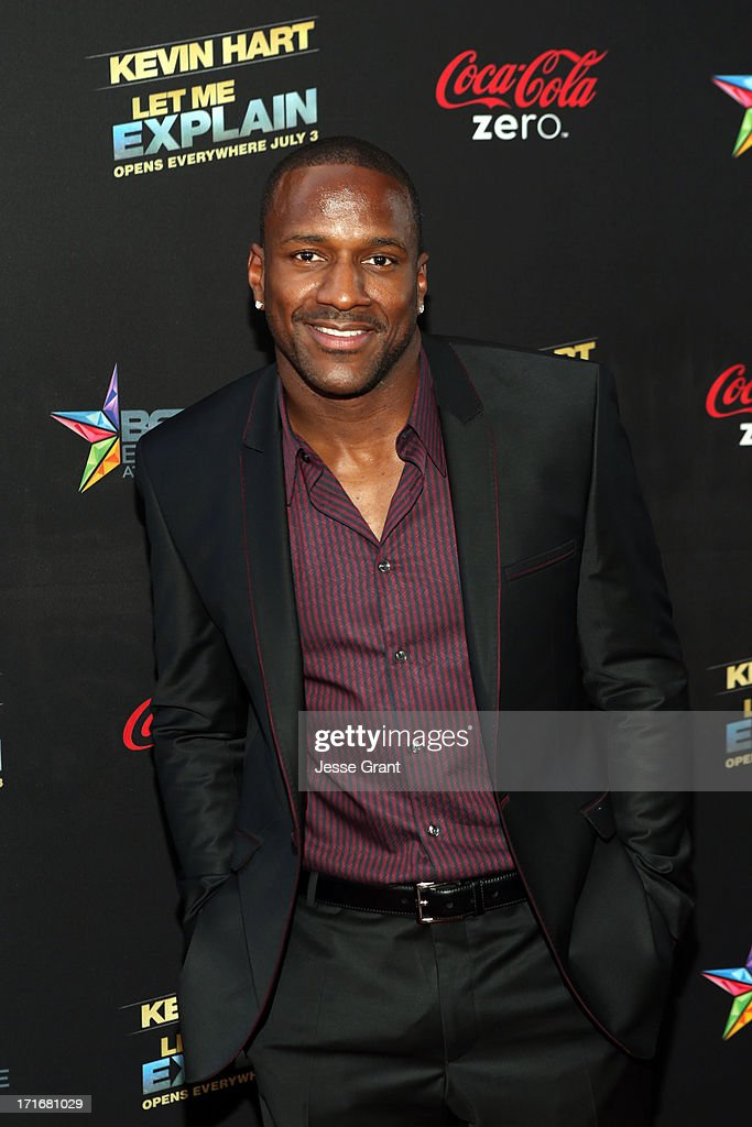 NFL player Jordan Babineaux attends Movie Premiere 'Let Me Explain' with Kevin Hart during the 2013 BET Experience at Regal Cinemas LA Live on June...