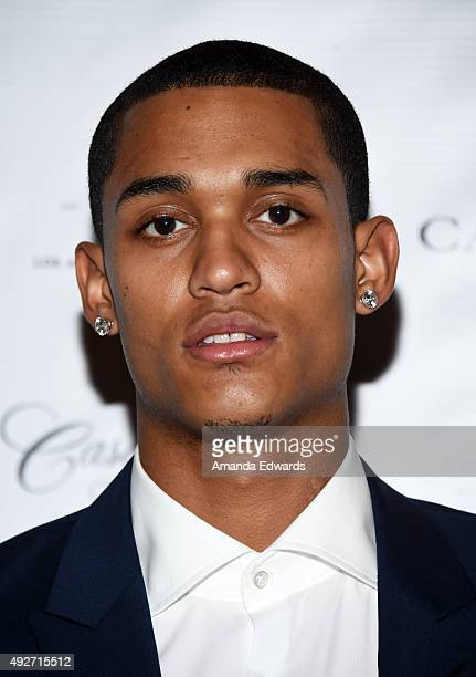 NBA player Jordan Clarkson attends the Los Angeles Confidential Magzine's Men's Issue event at The Los Angeles Athletic Club on October 14 2015 in...