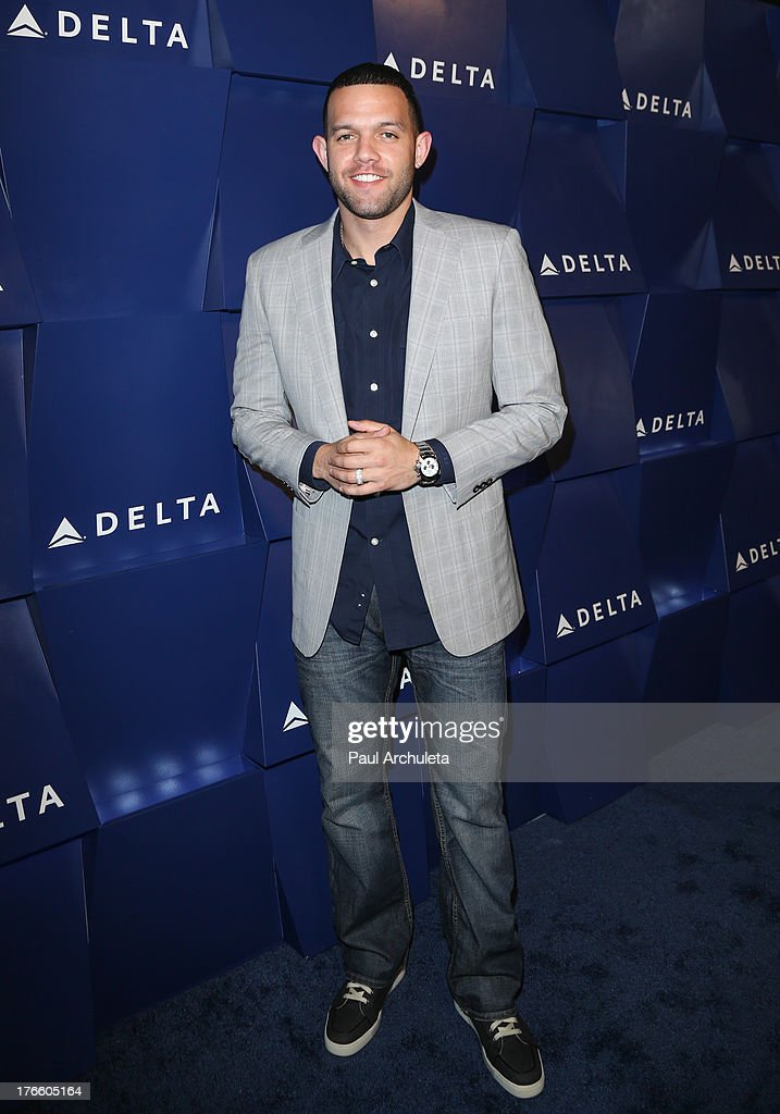 Player Jordan Farmar attends the Delta Air Lines summer celebration In Beverly Hills on August 15, 2013 in Beverly Hills, California.
