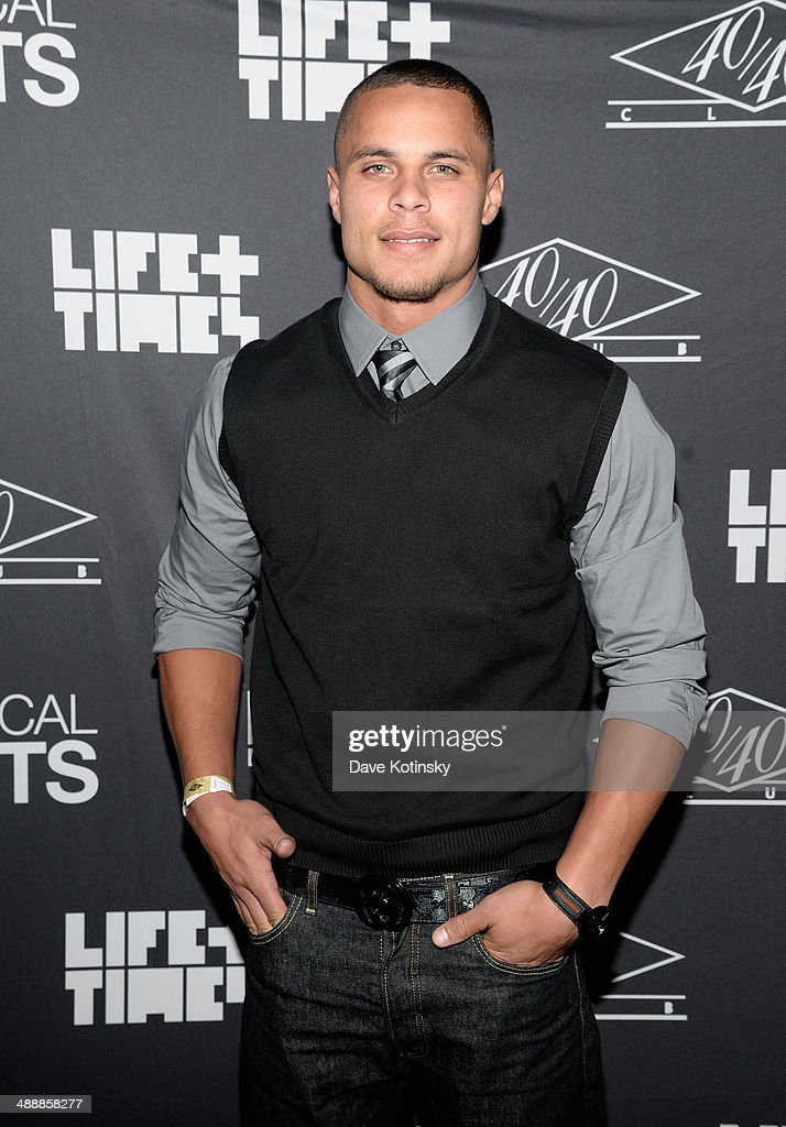 NFL player <a gi-track='captionPersonalityLinkClicked' href=/galleries/search?phrase=Jordan+Poyer&family=editorial&specificpeople=7211284 ng-click='$event.stopPropagation()'>Jordan Poyer</a> attends CBS Local Sports' Draft Party on May 8, 2014 in New York City.