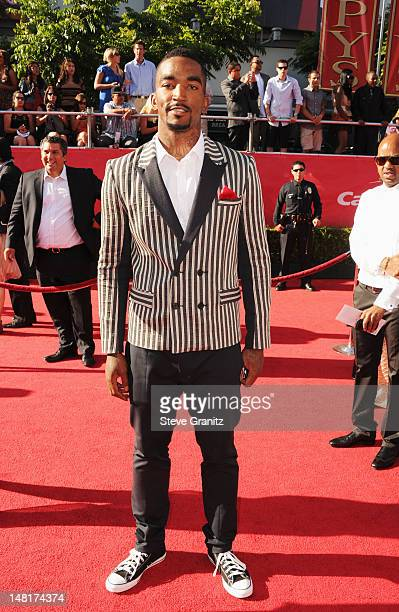 NBA player JR Smith of the New York Knicks arrives at the 2012 ESPY Awards at Nokia Theatre LA Live on July 11 2012 in Los Angeles California