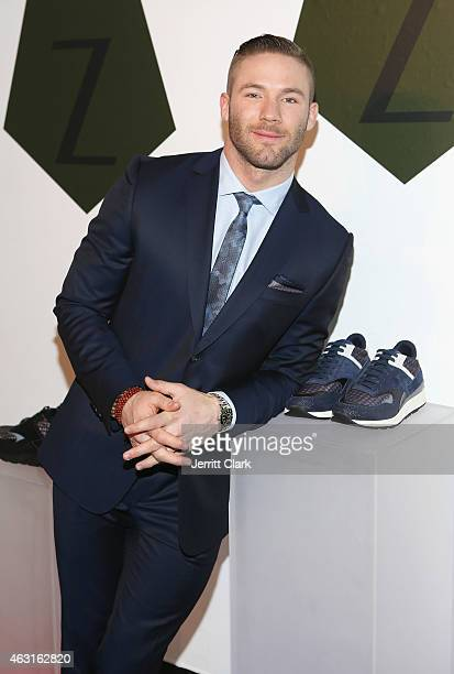 Player Julian Edelman of the New England Patriots attends the Z Zegna Launch on February 10 2015 in New York City