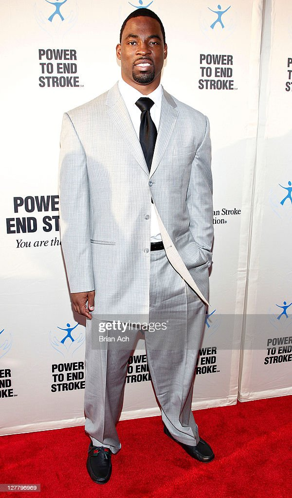 NFL player Justin Tuck attends the You Are the Power concert at The Apollo Theater on May 6 2011 in New York City