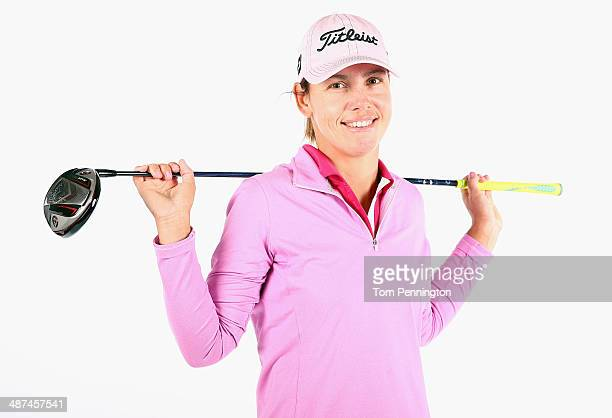 LPGA player Karine Icher of France poses for a portrait prior to the start of the North Texas LPGA Shootout Presented by JTBC at the Las Colinas...