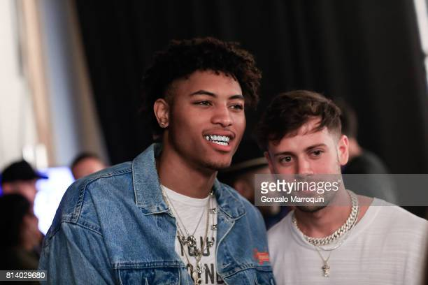 NBA player Kelly Oubre Jr attends the REPRESENT fashion show during the NYFW Men's July 2017 Skylight Clarkson Sq on July 13 2017 in New York City