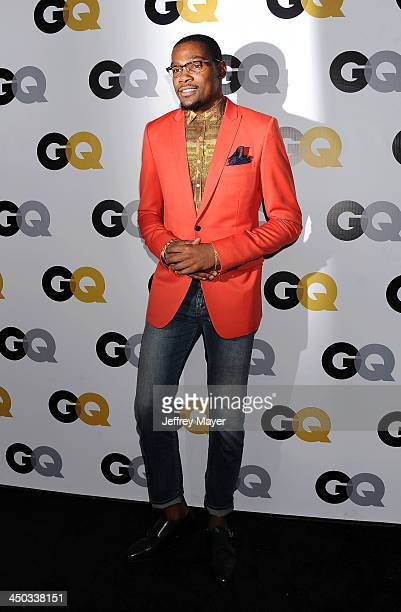 Player Kevin Durant arrives at the 2013 GQ Men Of The Year Party at The Ebell of Los Angeles on November 12 2013 in Los Angeles California