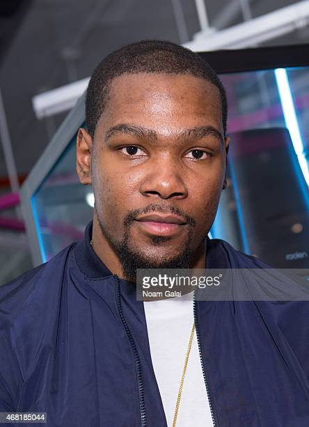 Player Kevin Durant attends the Opening Ceremony 'M$$ X WT' launch event at Opening Ceremony on March 30 2015 in New York City