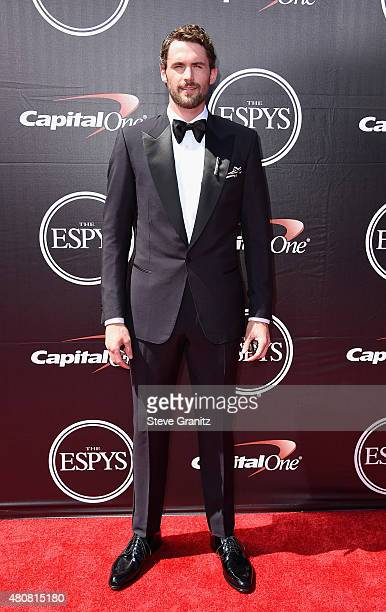 NBA player Kevin Love attends The 2015 ESPYS at Microsoft Theater on July 15 2015 in Los Angeles California