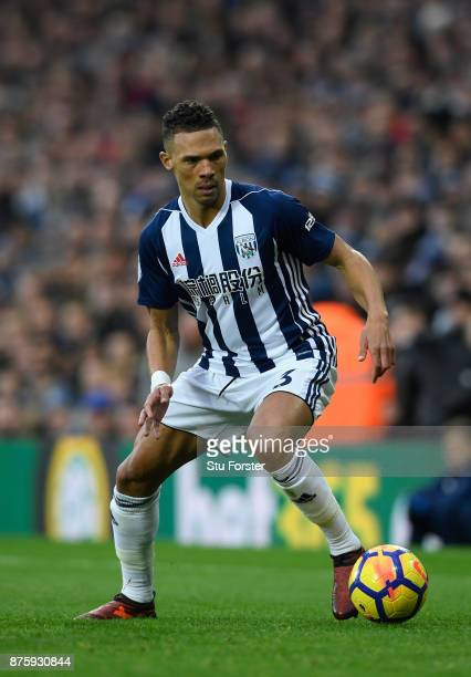 WBA player Kieran Gibbs in action during the Premier League match between West Bromwich Albion and Chelsea at The Hawthorns on November 18 2017 in...