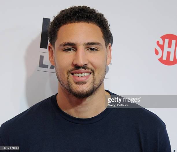 NBA player Klay Thompson attends Hollywood Unites for the 5th Biennial Stand Up To Cancer A Program of The Entertainment Industry Foundation at Walt...