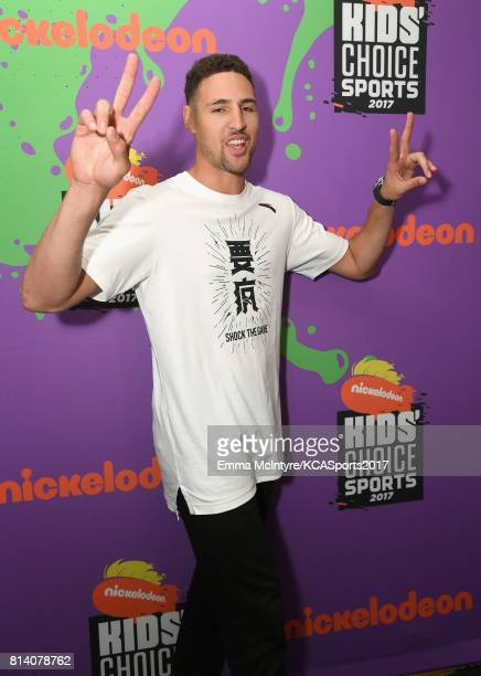 NBA player Klay Thompson attends Nickelodeon Kids' Choice Sports Awards 2017 at Pauley Pavilion on July 13 2017 in Los Angeles California