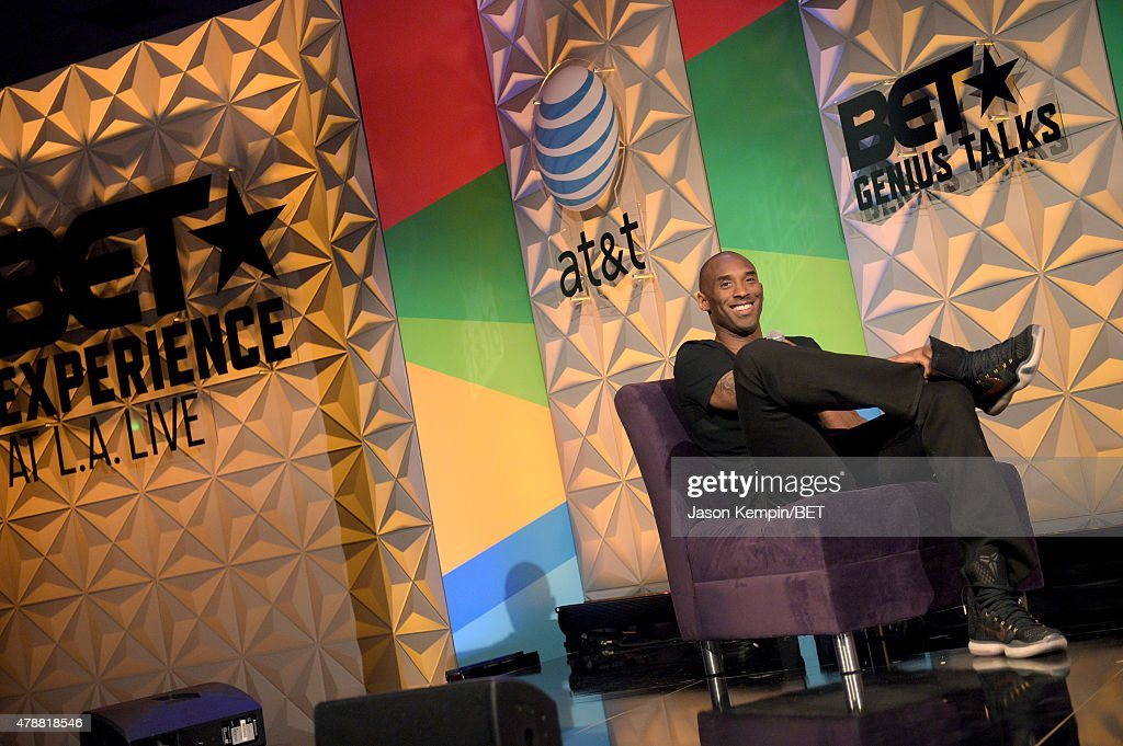 NBA player Kobe Bryant attends the Genius Talks presented by ATT during the 2015 BET Experience at the Los Angeles Convention Center on June 27 2015...