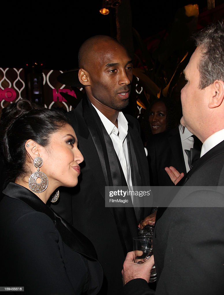 Player Kobe Bryant Vanessa Laine and actor Eric Stonestreet attend HBO's Official Golden Globe Awards After Party held at Circa 55 Restaurant at The...